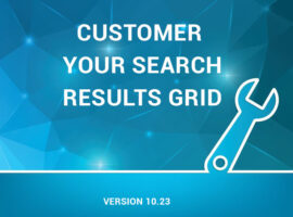 Customize your search results grid